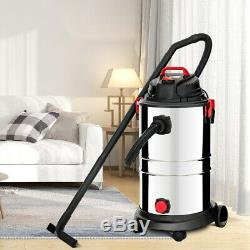 1200W 30L Wet/Dry Vacuum Cleaner 4 Modes Dust Extracting Industrial with Socket