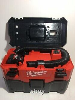 2019 Milwaukee M18 VC-2 7.5L Wet and Dry Vacuum + 9ah Li-ion Battery /New Filter