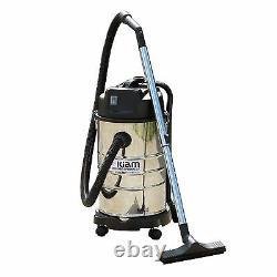 30L Wet & Dry Vacuum Cleaner Blower 1400W Stainless Steel Kiam KV30B Industrial