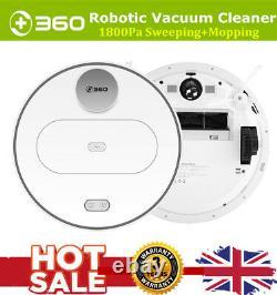 360 S6 Robotic Vacuum Cleaner 2in1 Sweeping Mopping Wet&Dry Sweeper HEPA Filter