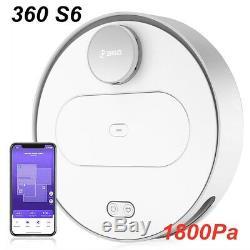 360 S6 Smart Robot Vacuum Cleaner Dry/Wet Floor Mop Sweeper 1800Pa App Control A