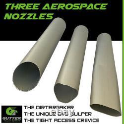 3600w Gutter Vacuum 36ft Lightest 1.2m Aerospace Aluminium Gutter Cleaning Poles