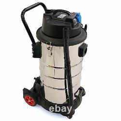 60L /1.400W INDUSTRIAL VACUUM CLEANER wet & dry stainless steel washable filters