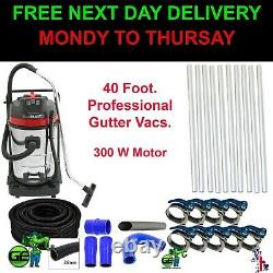 Commercial Wet & Dry Vacuum Gutter Cleaning Machine (12M-40FT) Pole. 10ML Hose