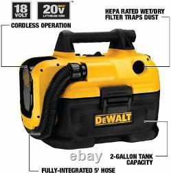 DEWALT DCV580H 20V MAX Cordless Wet-Dry Vacuum Yellows, 17.10 Inch x 12.80 Inch