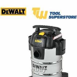 DeWalt DXV30SA Stainless Steel 30L Wet/Dry Vacuum 240V 1050W Portable Wheel
