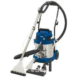 Draper 20L 1500W 230V Wet and Dry Shampoo/Vacuum Cleaner Car Valeting Machine