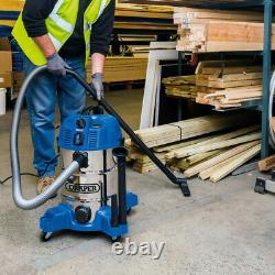 Draper 30L Wet & Dry Vacuum Cleaner With Power Tool Socket 230V