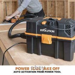 Evolution R15VAC 1000w Wet & Dry Workshop Vac With 1700w Power Take-off