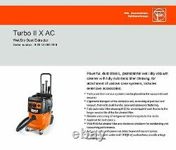 FEIN Turbo II X AC Vacuum Cleaner with Automatic Filter Cleaning, Wet/Dry
