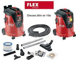 FLEX 25Ltr 110v/240v Wet/Dry Hoover/Vacuum Cleaner + Accessory Kit VCE 26 L MC