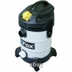 Fox F50-800 Wet & Dry Vacuum Extractor 240v & 110v, 30 Litre Capacity