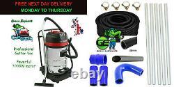 Gutter Vacuum Cleaner Wet & Dry3000w 80L 20FT 6M Pole 38mm Flexible Hose Pipe 5M