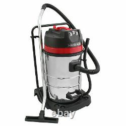Industrial Vacuum Cleaner Wet & Dry Vac Extra Powerful Stainless Steel 80L B0927