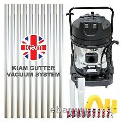 Kiam Gutter Cleaning System KV60-2 Industrial Wet & Dry Vacuum Cleaner & Pole