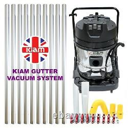 Kiam Gutter Cleaning System KV60-3 Industrial Wet Dry Vacuum Cleaner & Pole Kit