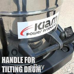 Kiam KV60-2 60L Industrial Twin Motor 2400W Wet & Dry Vacuum Cleaner Gutters