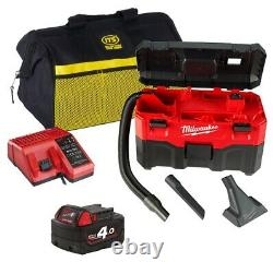 MILWAUKEE M18VC2ITS 18v M18 Wet/Dry Vacuum Cleaner 1 x 4Ah Battery/Charger/Bag