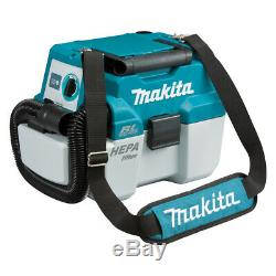 Makita DVC750LX1 18V BRUSHLESS Wet/Dry Vacuum, Portable, Dust Extraction