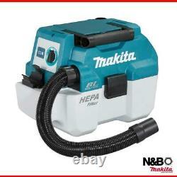 Makita DVC750LZ 18v LXT BL 7.5L L-Class Wet/Dry Vacuum Cleaner Body Only