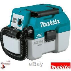 Makita DVC750LZ 18v Li-ion LXT Brushless 7.5L L-Class Wet / Dry Vacuum Cleaner