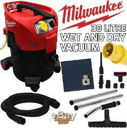 Milwaukee 110v Wet & Dry Vacuum 30L Dust Extractor M-Class Site Hoover AS300EMAC
