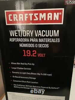 NEW CRAFTSMAN 917598 C3 19.2V WET/DRY VAC VACUUM/BLOWER BARE TOOL With ATTACHMENTS