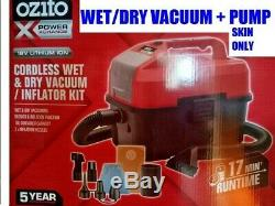 New Cordless Ozito Wet/dry Vacuum & Pump 18v Skin Power Xchange Lithium Power