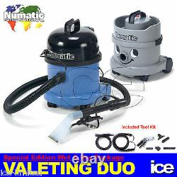 Numatic Car Valeting Duo Ct370-2 & Nvh2001 Vacuum Cleaning Equipment Machine Kit
