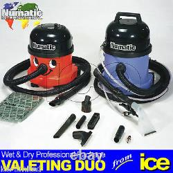 Numatic NRV200-22 Dry Vacuum CT370 Wet Extraction 1200w Car Valeting Machines