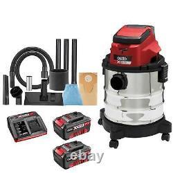 Ozito PXVWD 18v Cordless Mini Wet and Dry Vacuum Cleaner 2 x 4ah Li-ion
