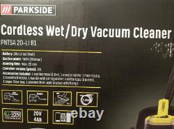 Parkside 20V 4Ah Cordless Wet Dry Vacuum Cleaner Blower With Battery & Charger
