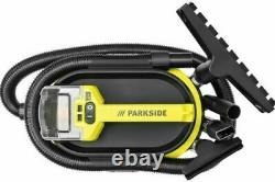 Parkside 20V Cordless Wet / Dry Vacuum Cleaner with 1x 4Ah Battery and Charger