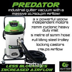Predator 3600 Gutter Vacuum Industrial Gutter Cleaning Machine with 5 Metre Hose