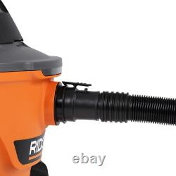 RIDGID Vacuum Cleaner Wet Dry 6 Gal 3.5-Peak HP Blower Port Accessory Storage