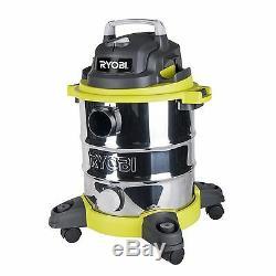 Ryobi 20L 1250W Stainless Steel Wet Dry Workshop Vacuum