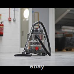 SEALEY Vacuum Cleaner Industrial Wet & Dry 20ltr 1250W 230V 240V Stainless Drum