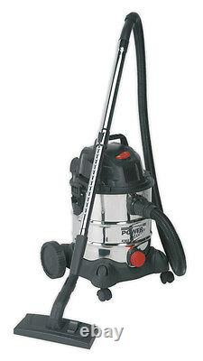 Sealey 20ltr 240v Wet & Dry Industrial Vacuum/Vac Cleaner + Accessories PC200SD