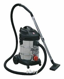 Sealey PC300SD Vacuum Cleaner Industrial 30ltr 1400With230V Stainless Drum