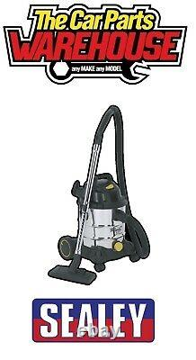 Sealey Vacuum Cleaner Builder / Construction Wet & Dry 20ltr 1250W / 110V Steel