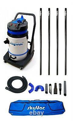 SkyVac Commercial Wet & Dry Vacuum Gutter Cleaning Machine 4 Poles (6m/20ft)