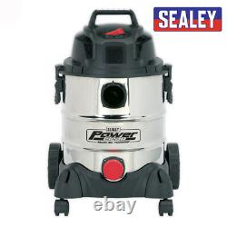 VACUUM CLEANER INDUSTRIAL WET & DRY 20LTR 1250With230V STAINLESS DRUM HOOVER
