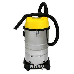 Vacuum Cleaner Industrial Wet & Dry Extra Powerful Stainless Steel 30L Hoover