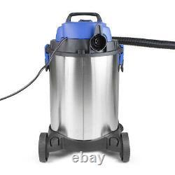 Wet & Dry Vac Industrial Vacuum Cleaner 30L Blower 1400W Front socket