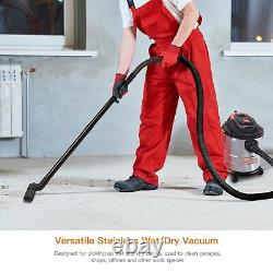 Wet and Dry Vacuum Cleaner 3 in 1 Stainless, 18.9L Capacity 1000 Watts Blower